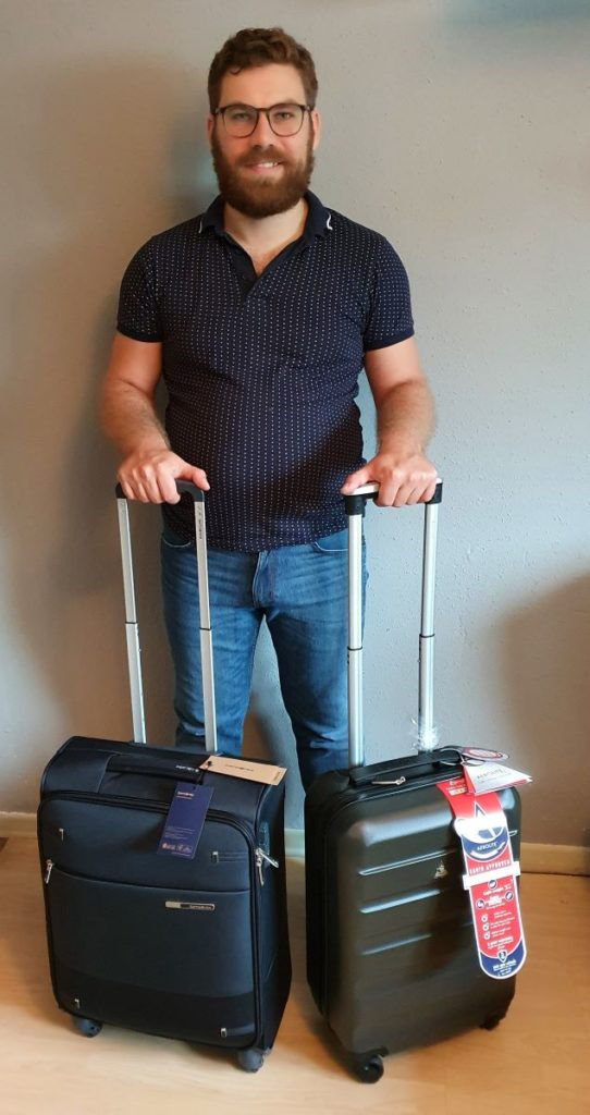 Handgepäck Koffer Test hochkant
